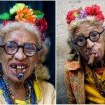 80-летняя бабушка зарабатывает деньги своей брутальностью. ФОТО