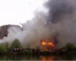 На Закарпатье масштабный пожар уничтожил туркомплекс